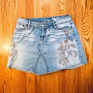 Vintage Distressed Allen B Schwartz Denim Shorts